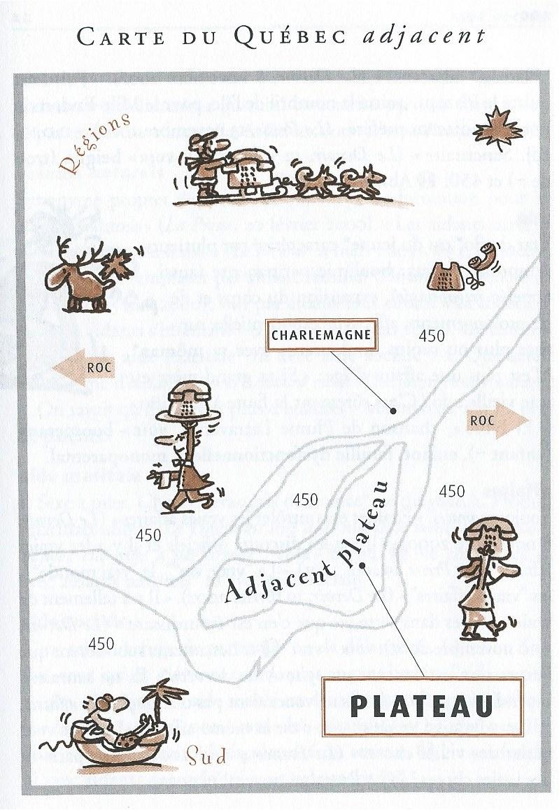 Carte du Québec adjacent, Dictionnaire québécois instantané, 2004