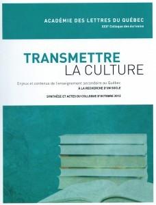 Transmettre la culture, 2014, couverture