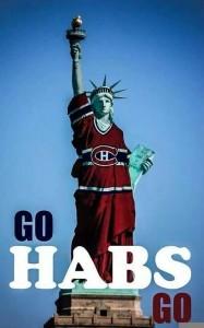 La Statue de la liberté portant le maillot des Canadiens