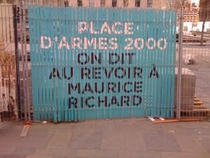 Place d'Armes, mai 2011, travaux de rénovation