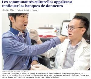 Le Devoir, 18 juillet 2014, p. A3