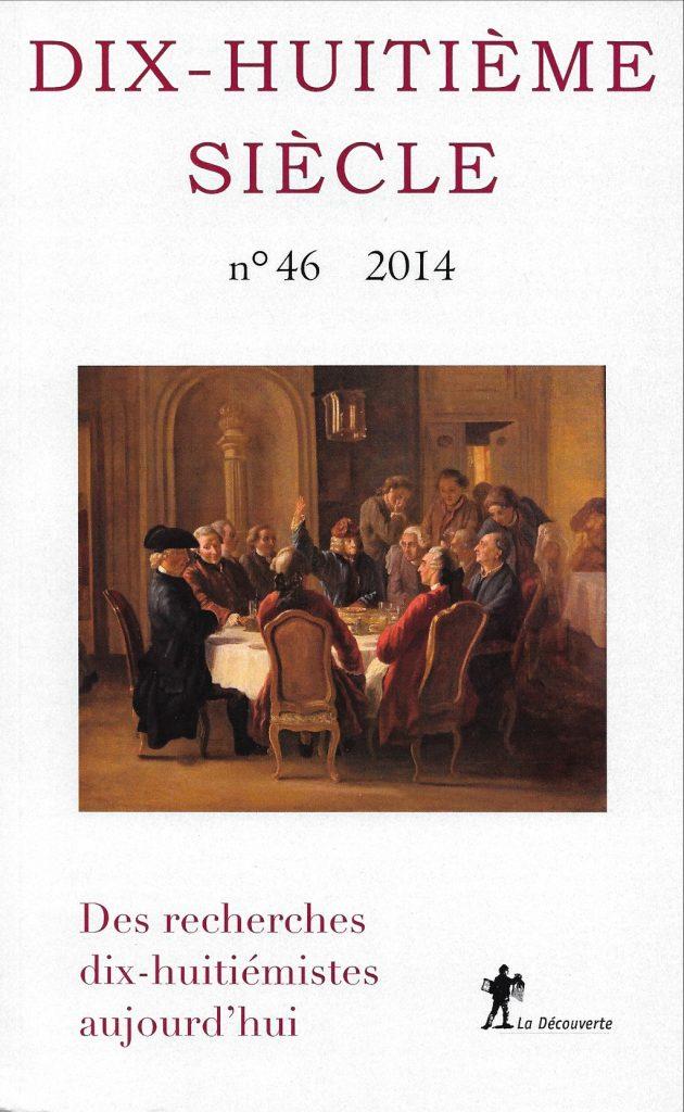 Dix-huitième siècle, 46, 2014, couverture