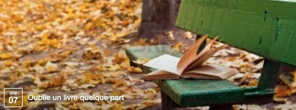 Oublie un livre quelque part, septembre 2014