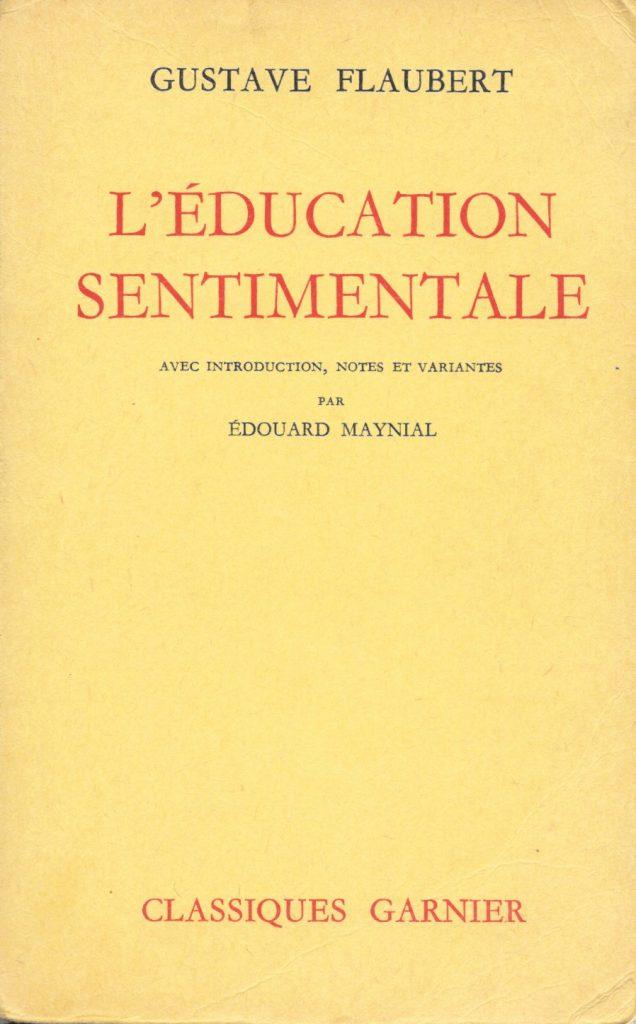 Gustave Flaubert, l'Éducation sentimentale, éd. de 1961, couverture