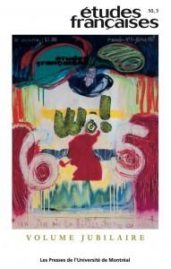 Études françaises, 50, 3, 2014, couverture