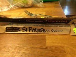 Emballage de Si pousse, une saucisse séchée fabriquée au Québec
