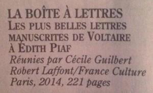 Une correspondance Voltaire-Piaf ?