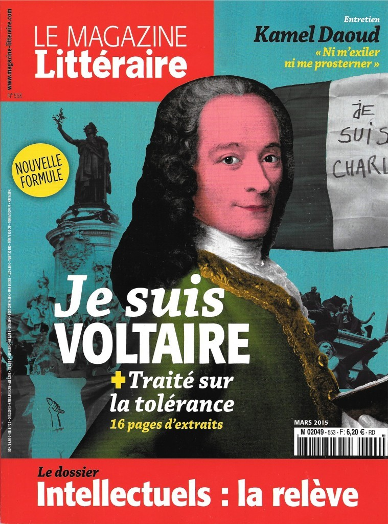 Magazine littéraire, 553, mars 2015, couverture