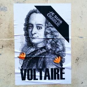 Affiche de Voltaire pour Charlie hebdo
