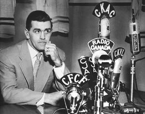 Conférence de presse de Maurice Richard le 18 mars 1955