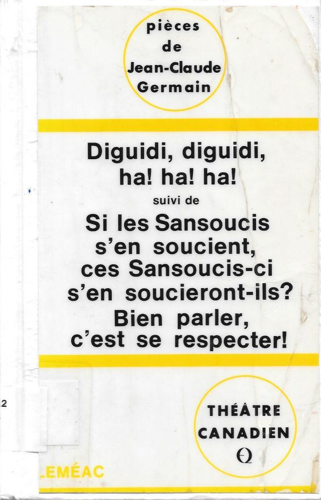 Jean-Claude Germain, Diguidi, diguidi, ha ! ha ! ha !, 1972, couverture