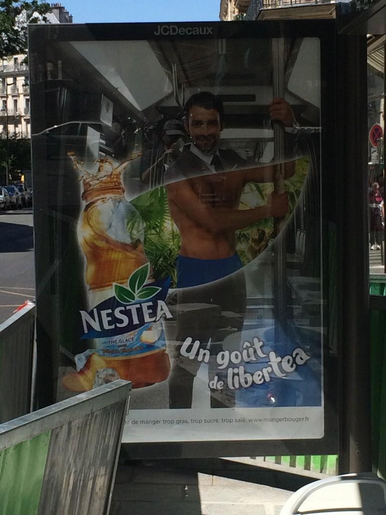 Paris, juin 2015, publicité