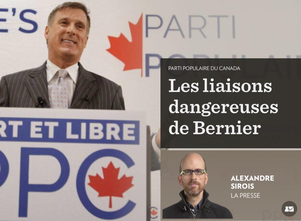 «Les liaisons dangereuses de Bernier», la Presse+, 15 février 2019