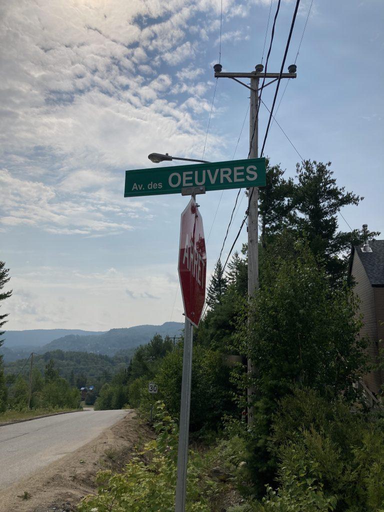 Avenue des œuvres, Saint-Côme, Québec, août 2021