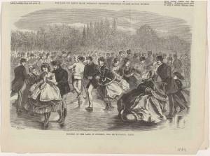 «Skating on the Lake of Suresne, Bois de Boulogne, Paris», 1869
