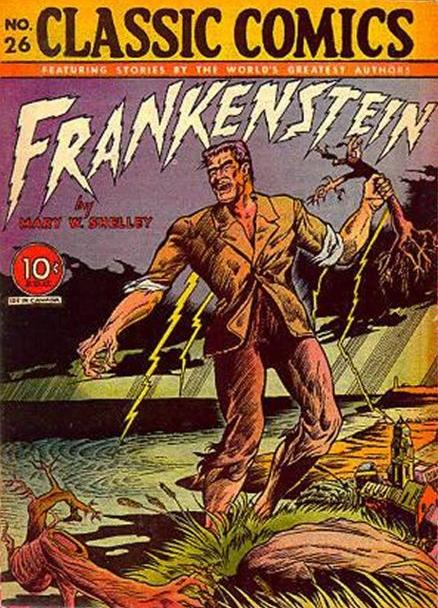 Classic Comics, 26, «Frankenstein», couverture
