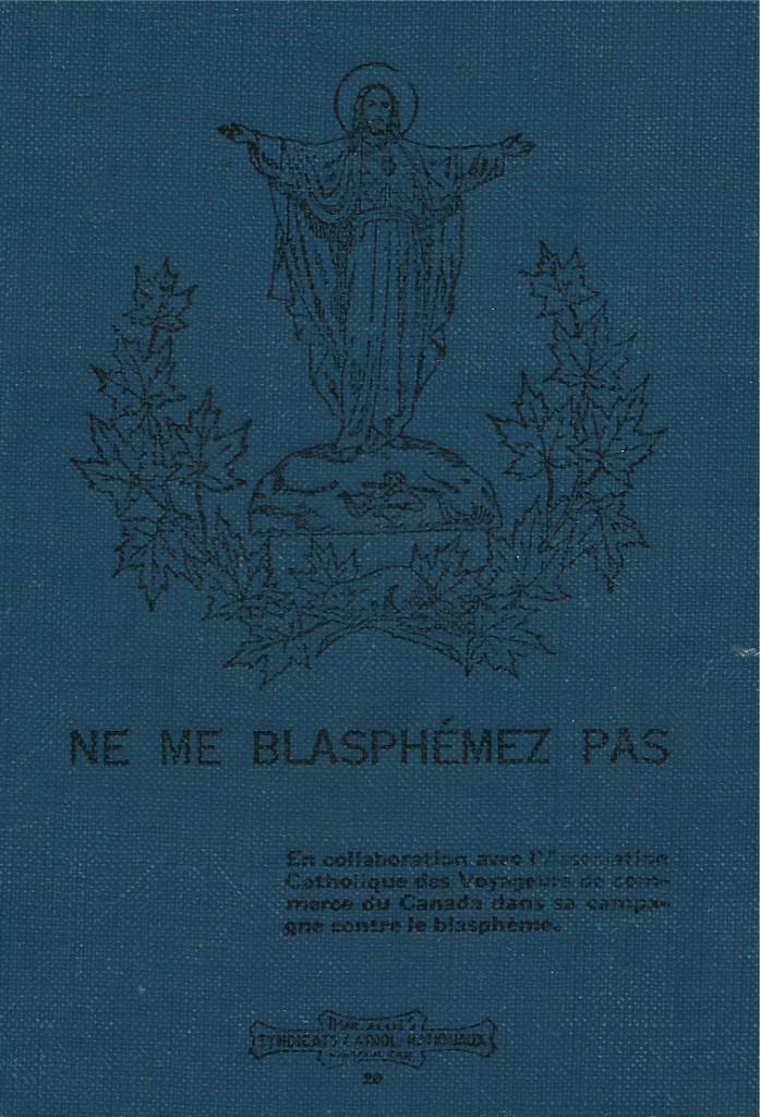 «Ne me blasphémez pas», Quatrième de couverture du manuel Lecture à haute voix
