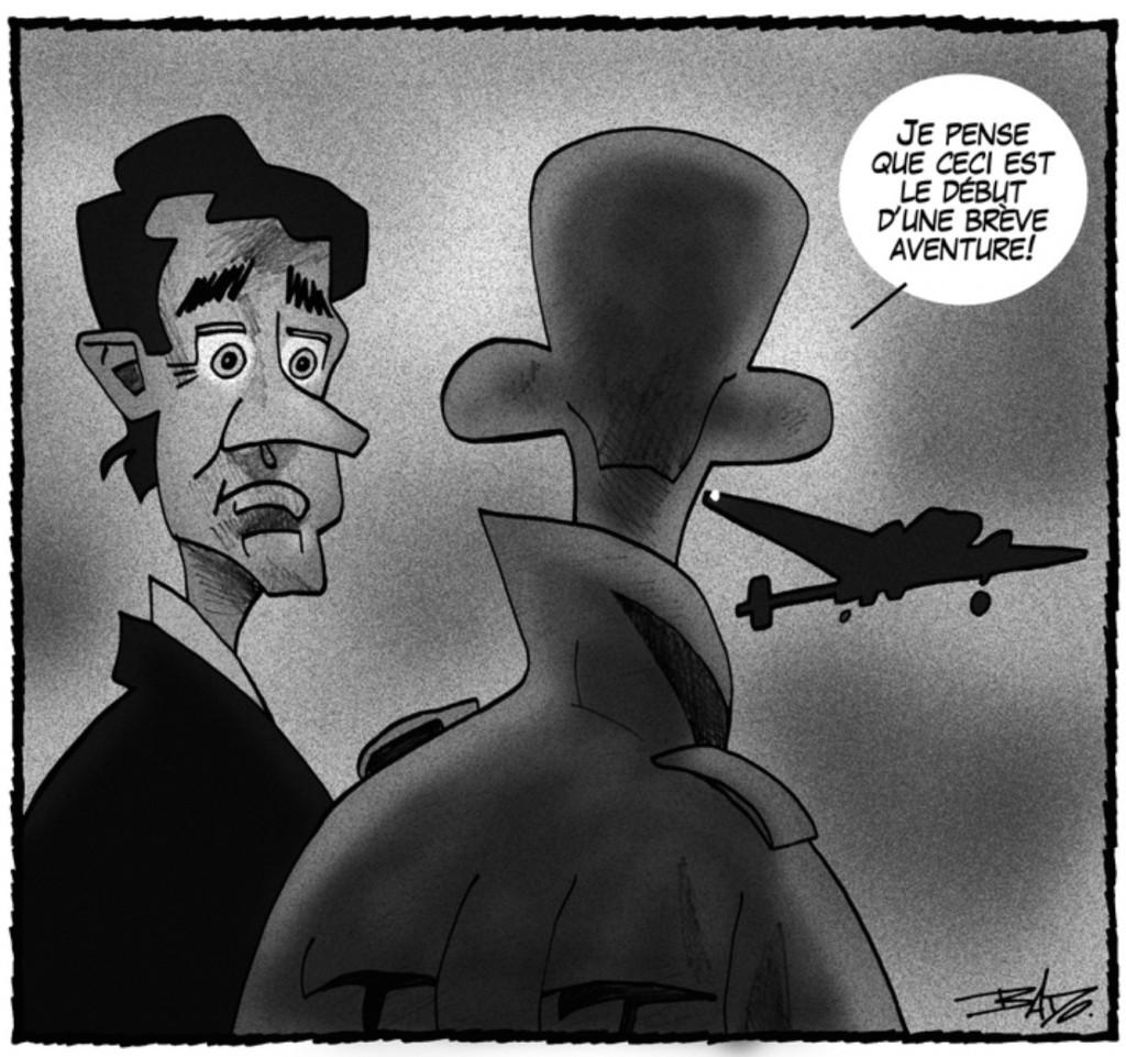 Caricature de Bado, la Presse+, 12 mars 2016