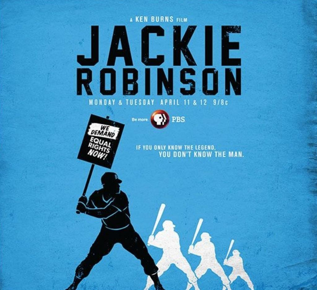 Publicité de l'émission de Ken Burns sur Jackie Robinson, 2016