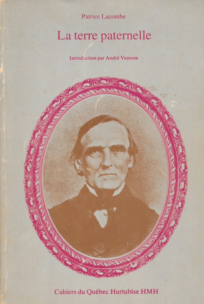 Patrice Lacombe, la Terre paternelle, éd. de 1972, couverture