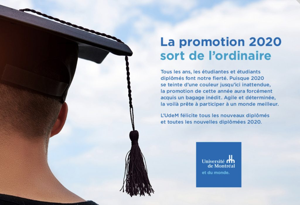 «Promotion agile», Université de Montréal, 2020