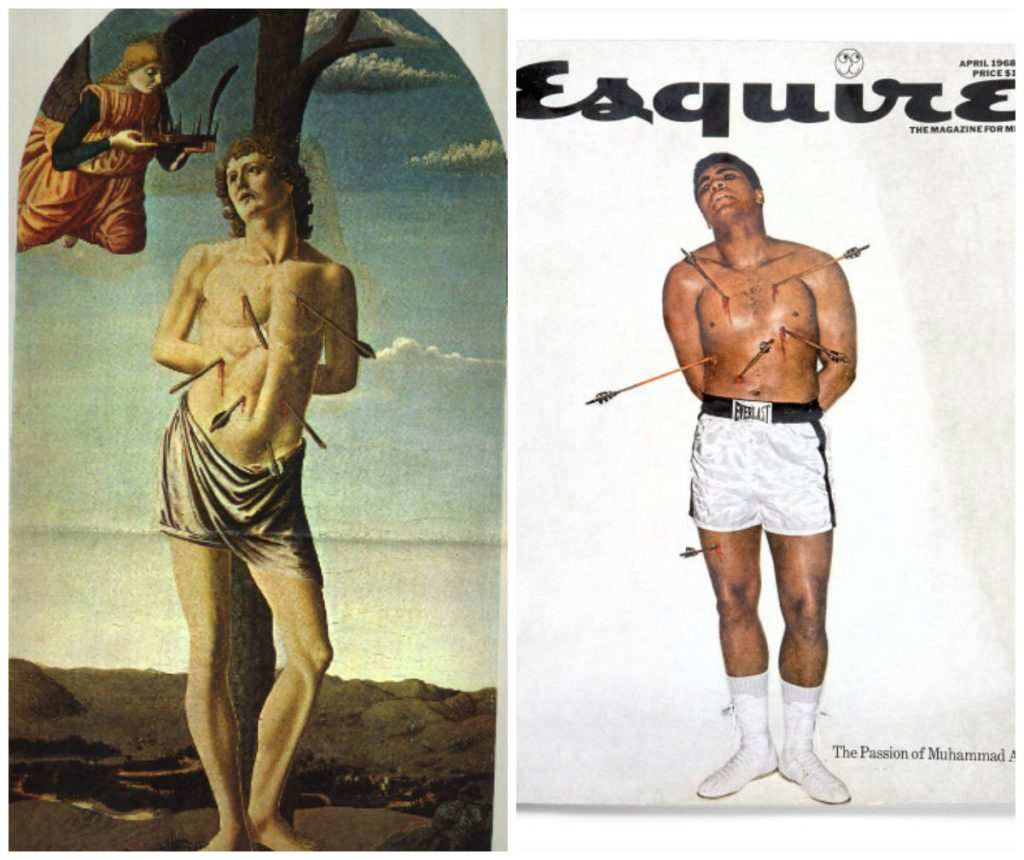 Saint Sébastient et Mohamed Ali, collage