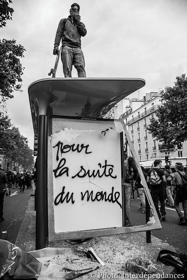 «Pour la suite du monde», graffiti, Paris, 2016
