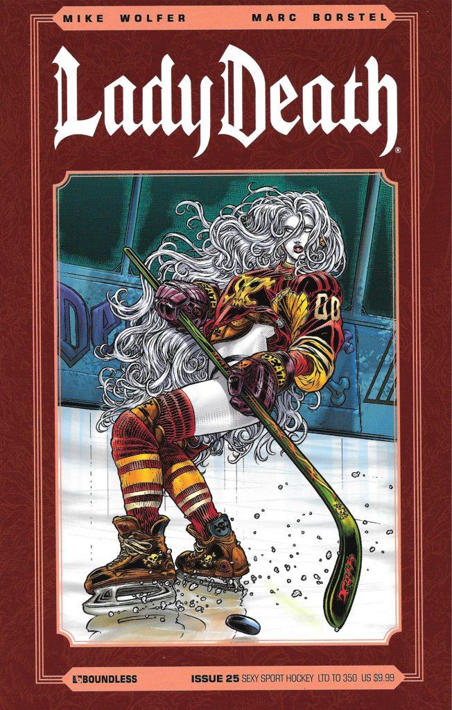 Lady Death, janvier 2013. Issue 25 : «Sexy Sport Hockey».