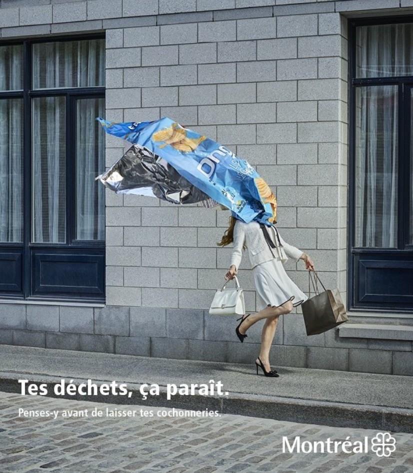 Ville de Montréal, publicité pour la propreté, 2016