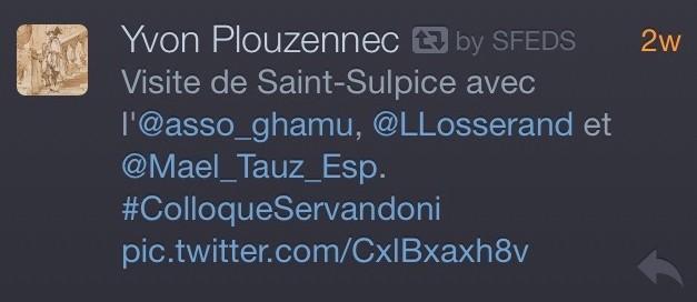 Tweet sur Saint-Sulpice (Paris)