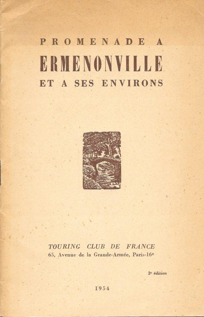 Promenade à Ermenonville et à ses environs, 1954, couverture