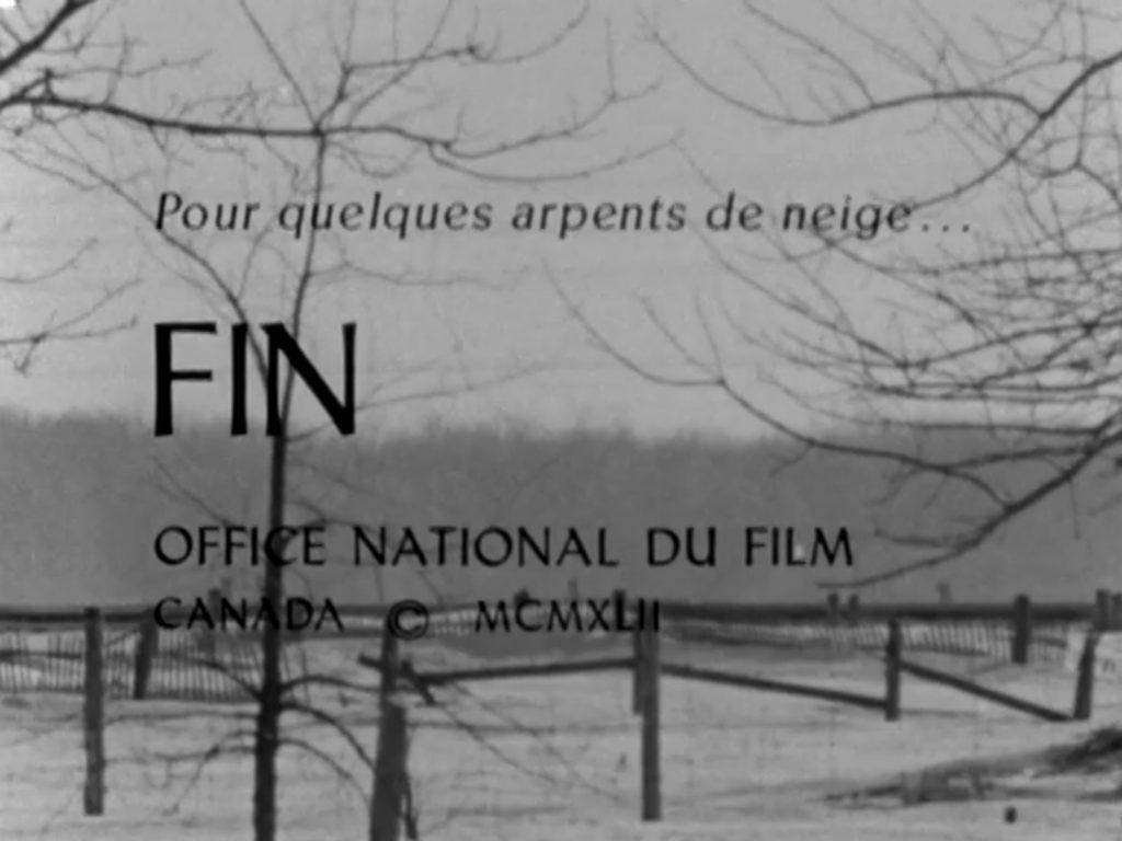 Georges Dufaux et Jacques Godbout, Pour quelques arpents de neige…, film, 1962