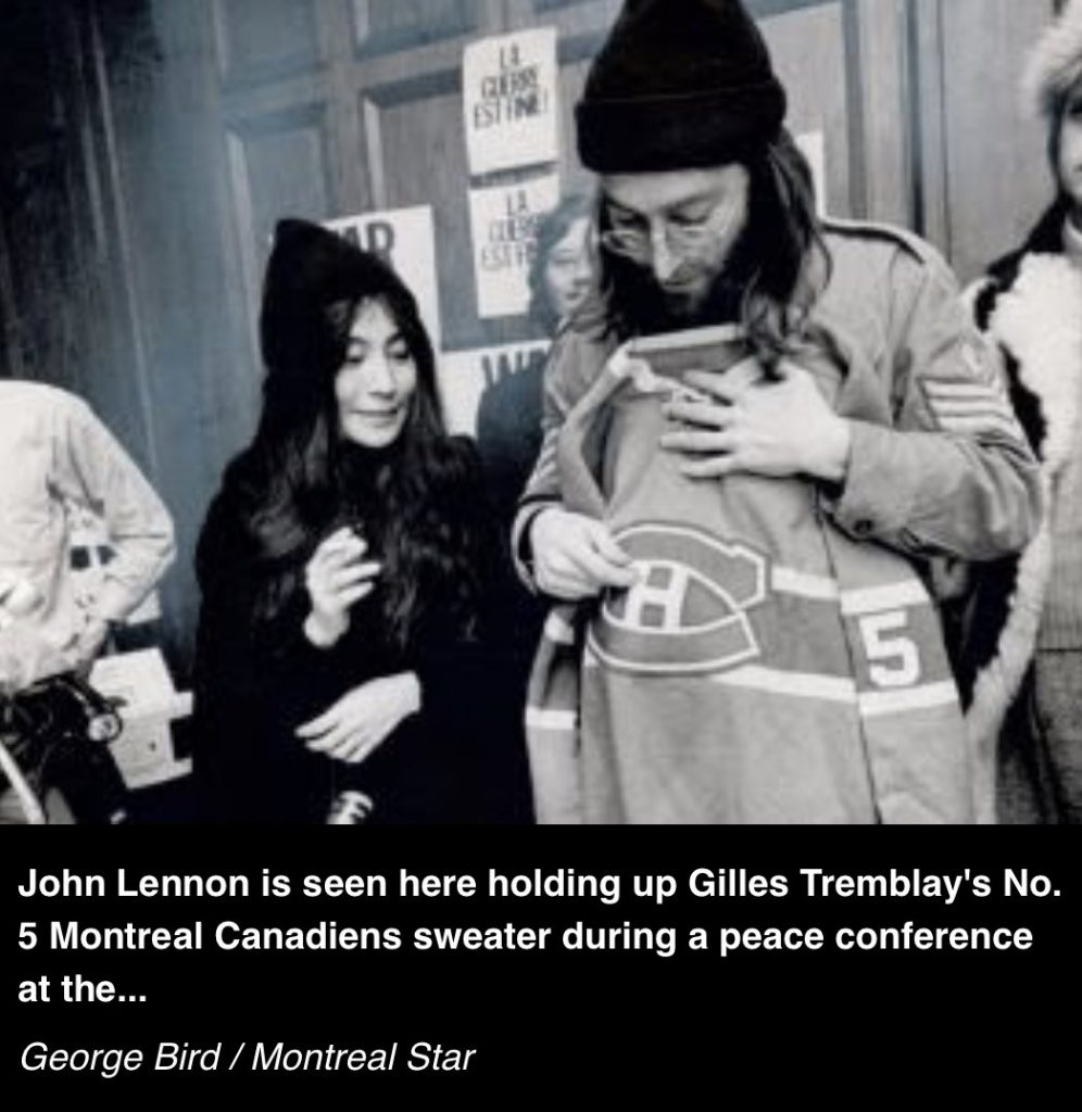 Yoko Ono, John Lennon et le chandail des Canadiens, 1969