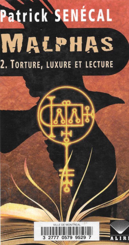 Patrick Senécal, Malphas, tome 2, 2012, couverture