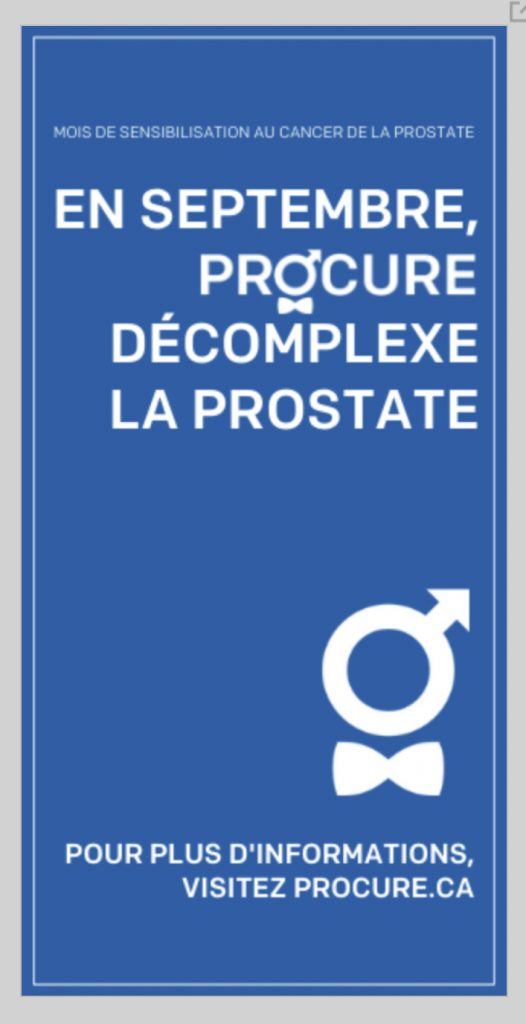 «Procure décomplexe la prostate», slogan publicitaire, septembre 2020