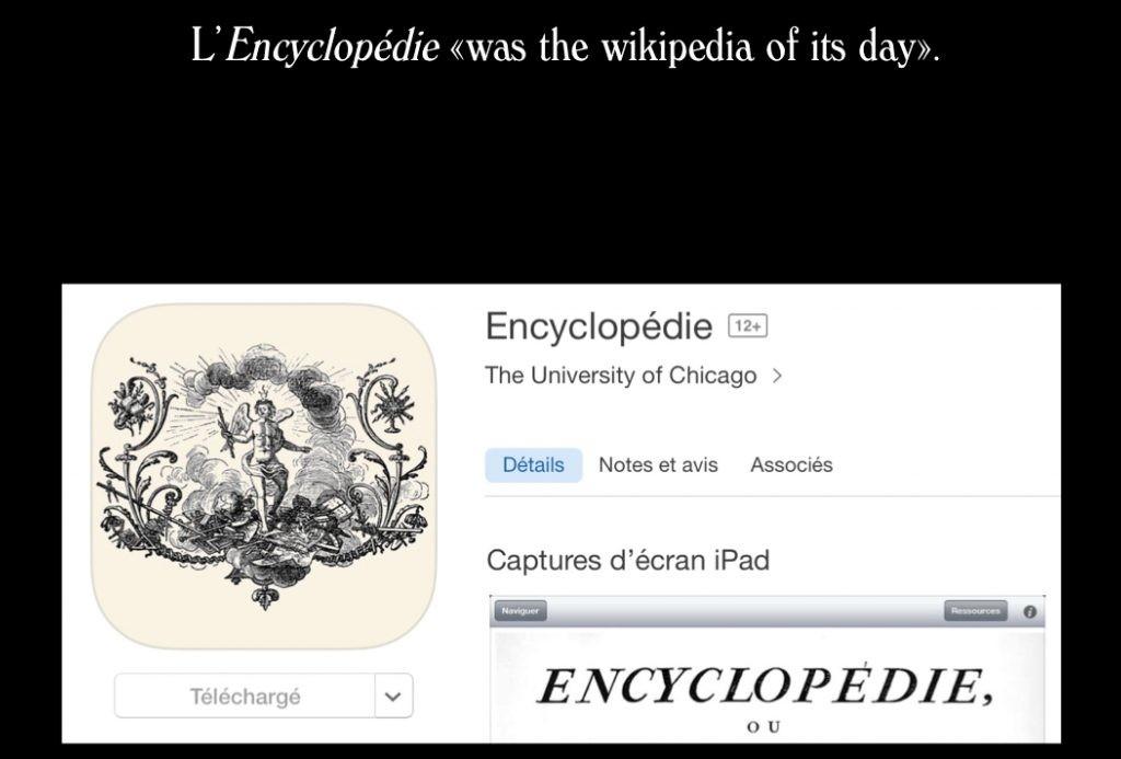 Application Encyclopédie pour tablette