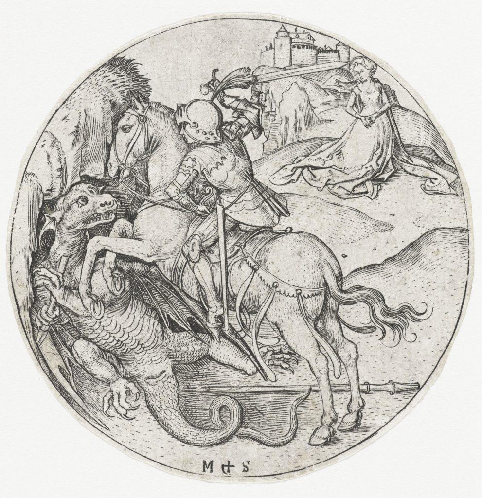 Saint Georges terrassant le dragon, Martin Schongauer