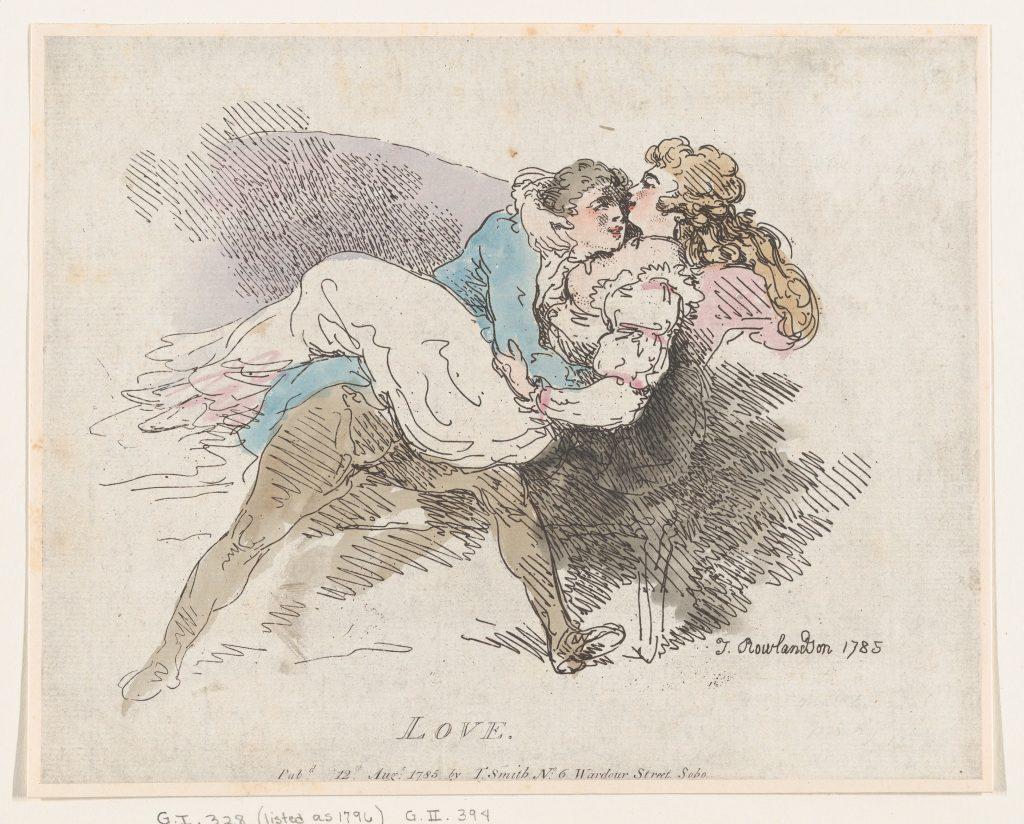«Love», Thomas Rowlandson, 12 août 1785