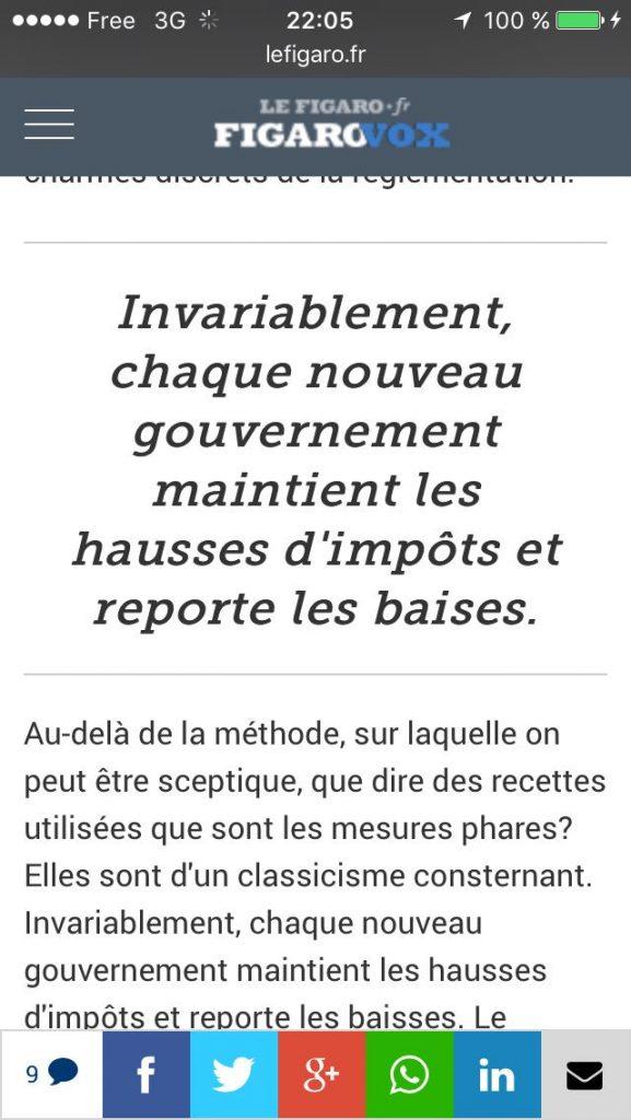 Confusion, au Figaro, entre «baisse» et «baise»