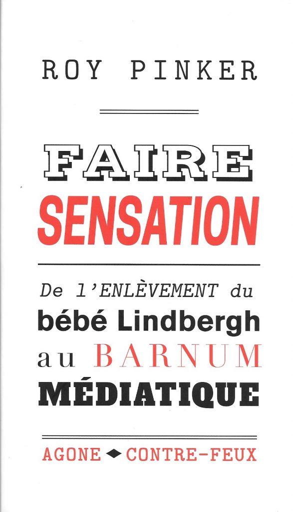 Roy Pinker, Faire sensation, 2017, couverture