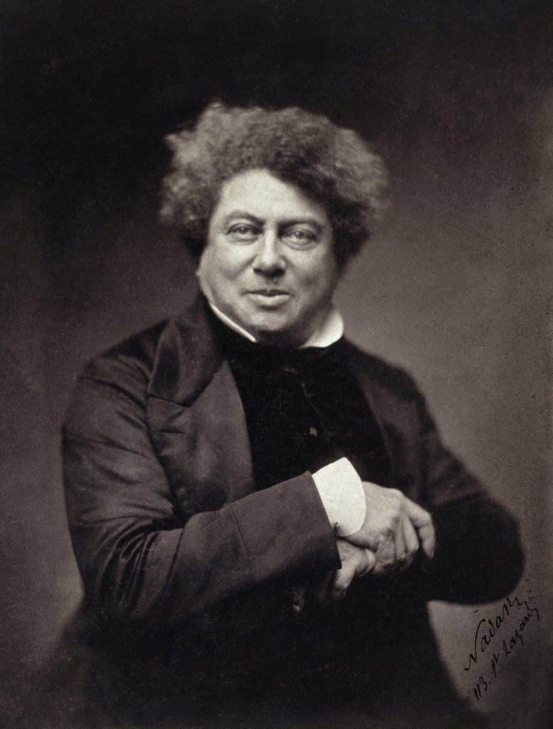 Portrait d'Alexandre Dumas par Nadar