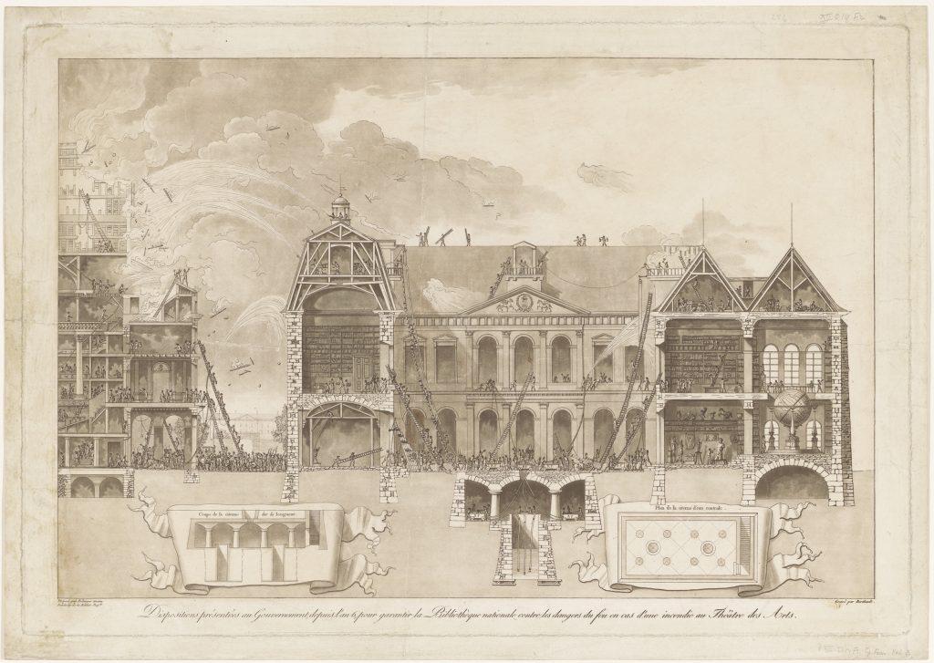 Bibliothèque nationale de France, gravure, 1797-1798