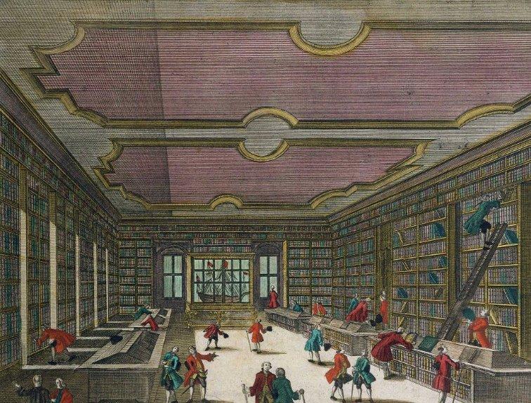 La bibliothèque de l'Université de Göttingen, 1740