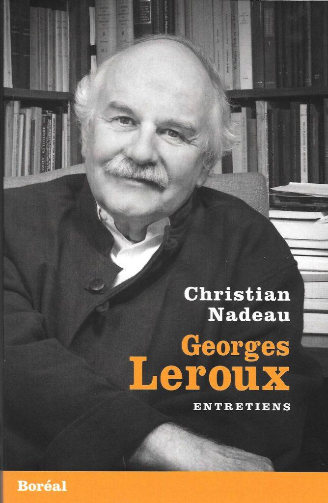 Georges Leroux. Entretiens, 2017, couverture