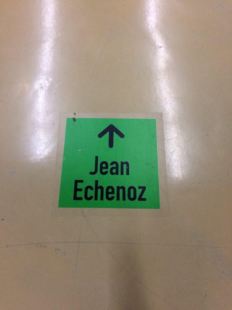 Exposition Echenoz, Paris, 2017, signalétique