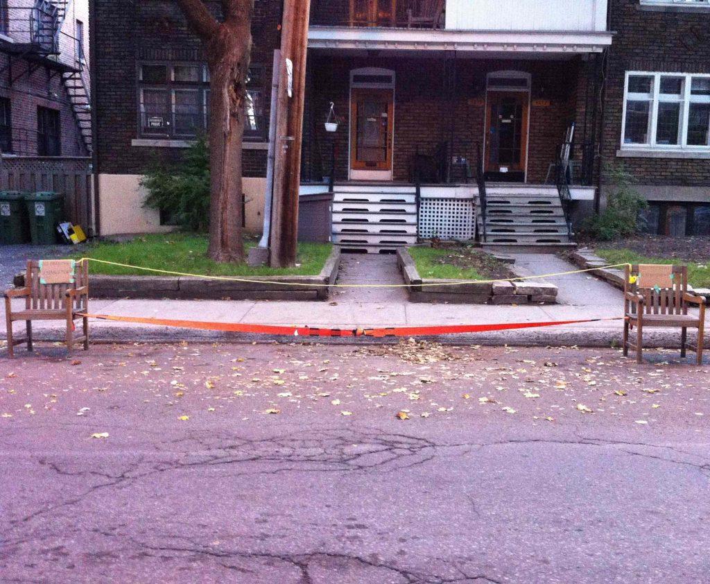 Benoît Melançon, Deux chaises, Montréal, octobre 2012