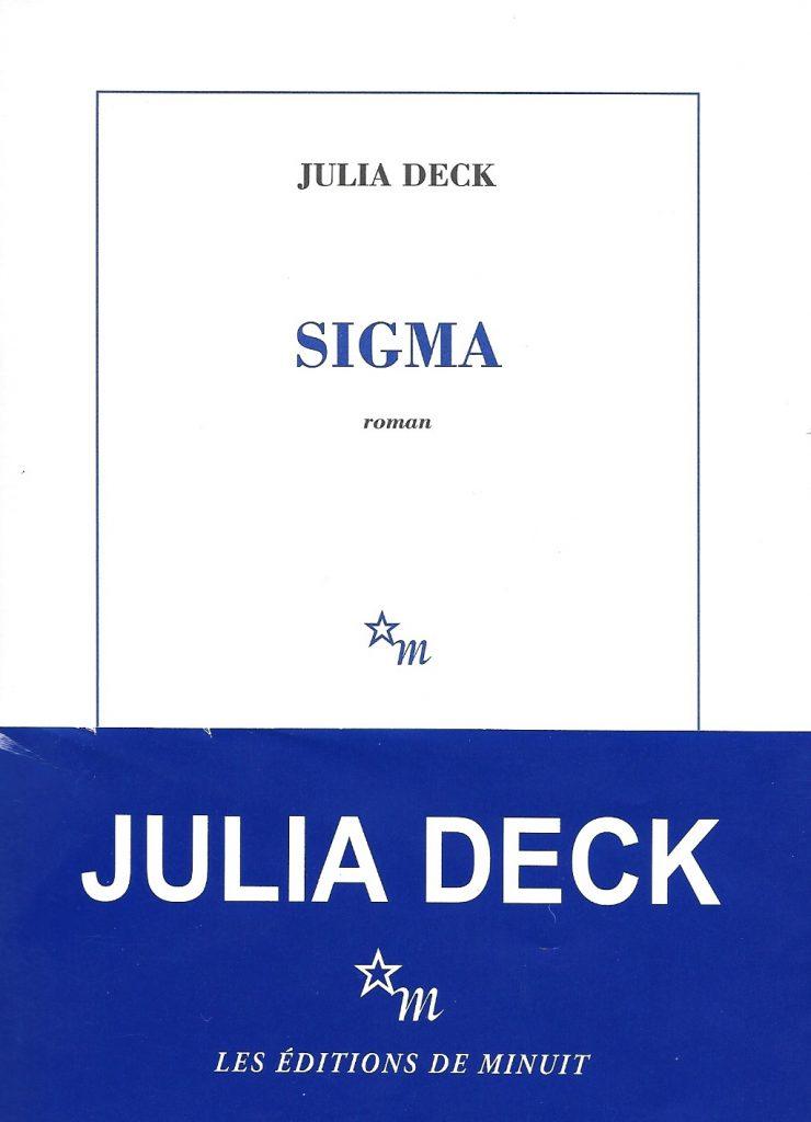 Julia Deck, Sigma, 2017, couverture