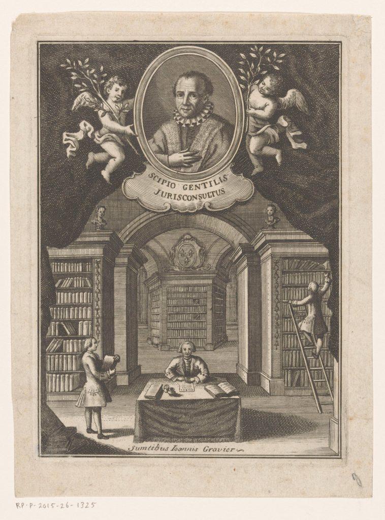 Anonyme, portrait de Scipione Gentili, Naples, 1763