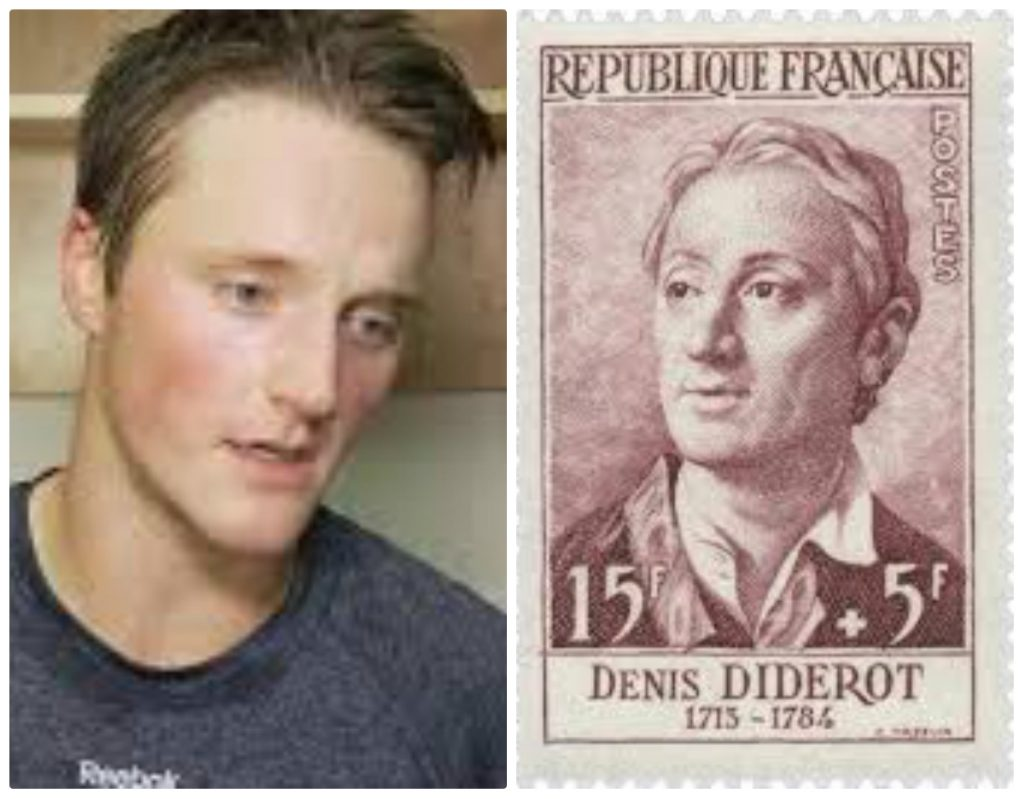 Daniel Carr et Denis Diderot, collage