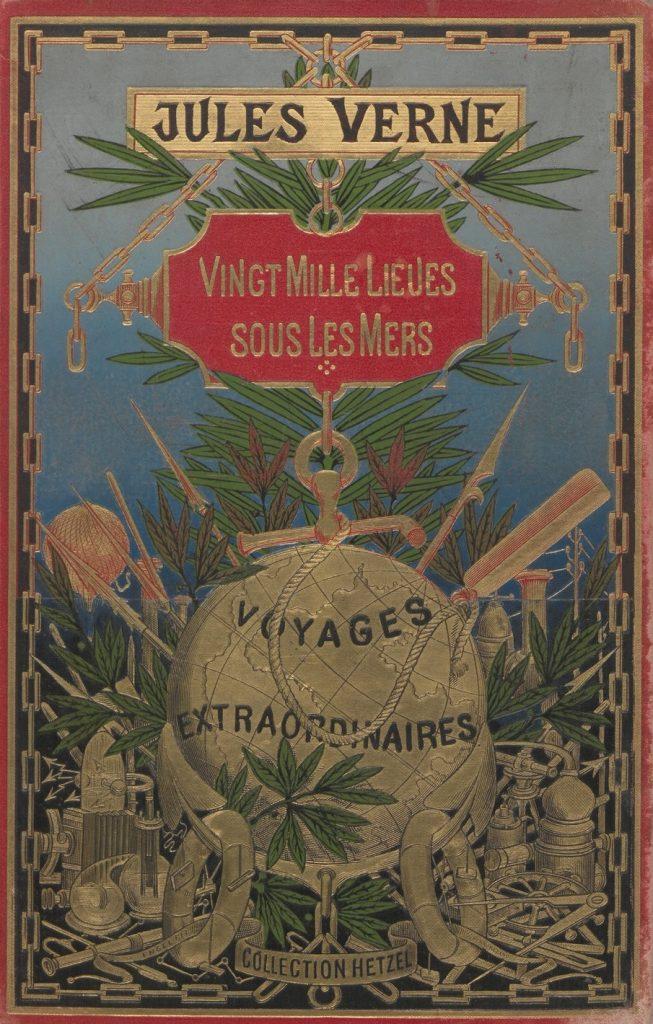 Jules Verne, Vingt mille lieues sous les mers, 1871, couverture